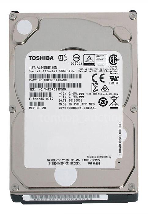 """Жесткий диск Toshiba SAS 3.0 1200Gb AL14SEB120N (10500rpm) 128Mb 2.5"""""""