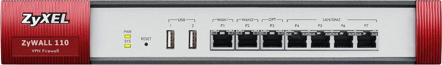 Межсетевой экран Zyxel USG110 (USG110-RU0102F) 10/100/1000BASE-TX