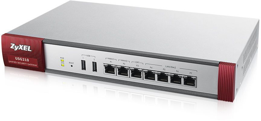 Сетевой экран Zyxel USG210 (USG210-RU0102F) 10/100/1000BASE-TX
