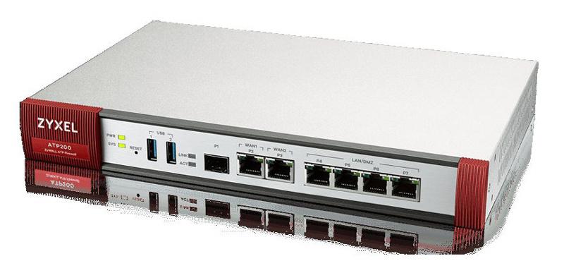 Сетевой экран Zyxel ZyWALL ATP200 (ATP200-RU0102F) 10/100/1000BASE-TX/SFP (плохая упаковка)