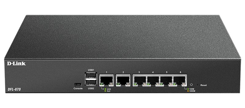 Межсетевой экран D-Link DFL-870 (DFL-870/A1A) 10/100BASE-TX черный