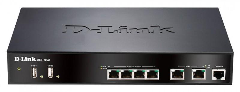 Роутер D-Link DSR-1000 10/100/1000BASE-TX черный