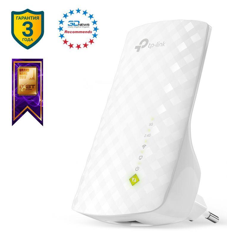 Повторитель беспроводного сигнала TP-Link RE200 AC750 Wi-Fi белый