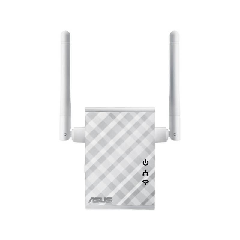 Повторитель беспроводного сигнала Asus RP-N12 N300 Wi-Fi белый
