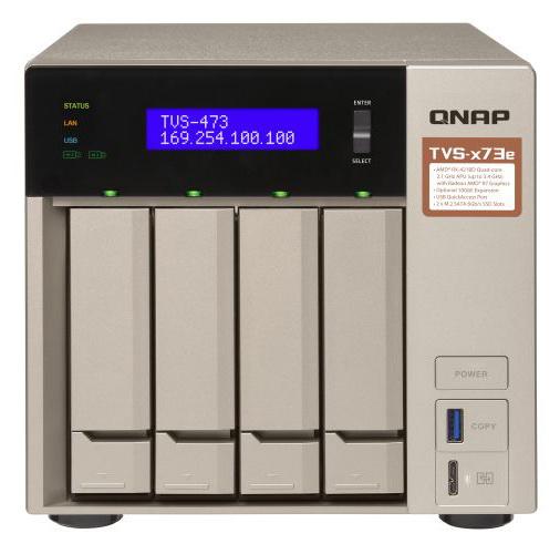 Сетевое хранилище NAS Qnap Original TVS-473E-8G 4-bay настольный R-Series RX-421BD