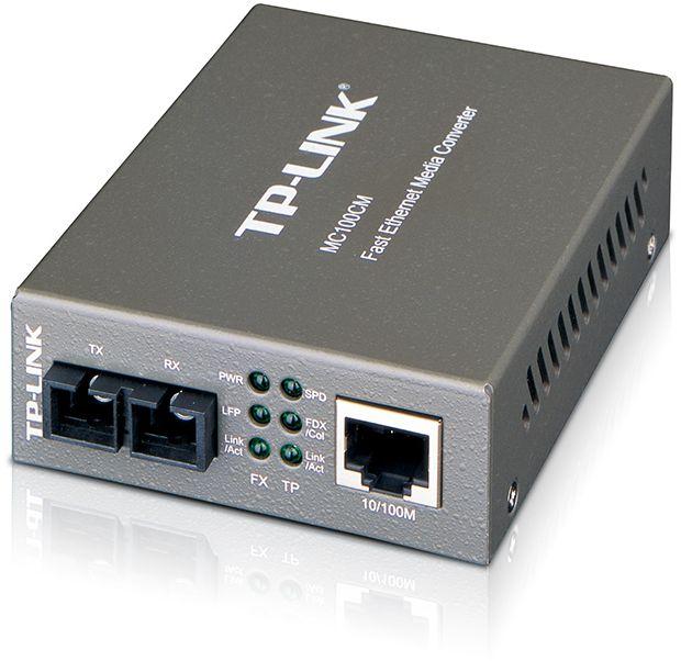 Медиаконвертер TP-Link MC100CM 100Mbit RJ45 1000Mbit SC