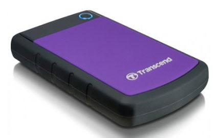 "Жесткий диск Transcend USB 3.0 1Tb TS1TSJ25H3P StoreJet 25H3P (5400rpm) 2.5"" фиолетовый"