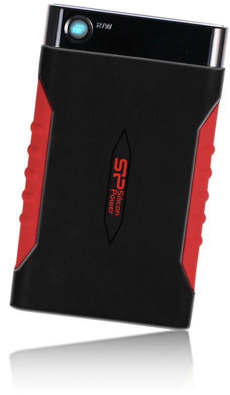 """Жесткий диск Silicon Power USB 3.0 2Tb SP020TBPHDA15S3L A15 Armor 2.5"""" черный/красный"""