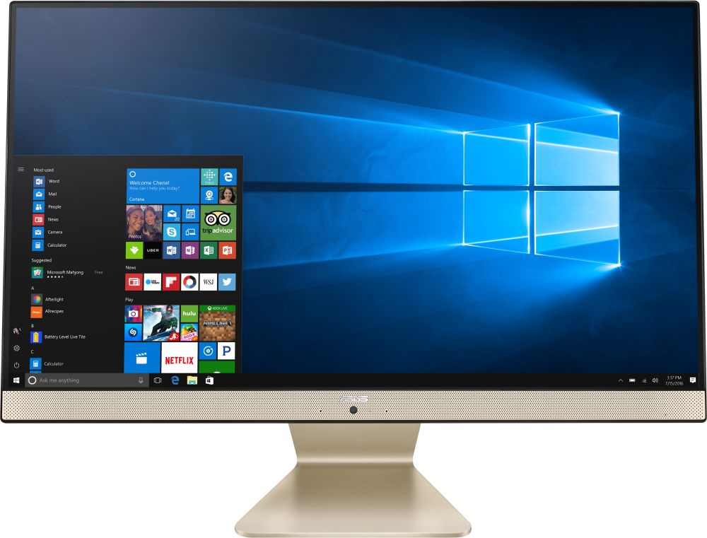 "Моноблок Asus A6521FAK-BA002R 23.8"" Full HD i5 8265U (1.6)/8Gb/1Tb 5.4k/UHDG 620/Windows 10 Professional/GbitEth/WiFi/BT/90W/клавиатура/мышь/Cam/черный/белый 1920x1080"