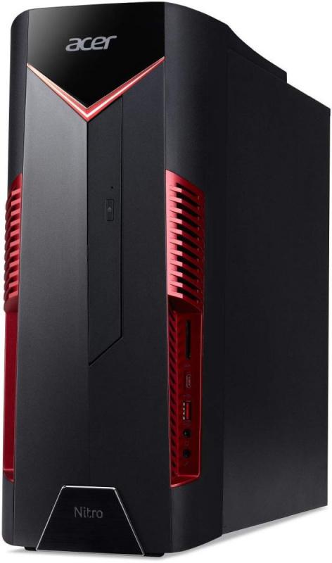ПК Acer Nitro N50-600 i5 8400/8Gb/1Tb 7.2k/SSD128Gb/GTX1050 2Gb/CR/W10H/черный (плохая упаковка)