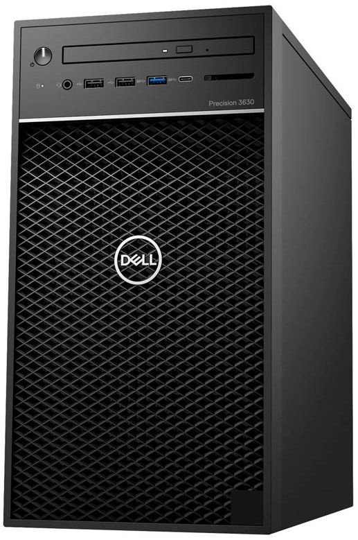 ПК Dell Precision 3630 MT i7 8700 (3.2)/16Gb/SSD256Gb/Pro WX 5100 8Gb/DVDRW/Windows 10 Professional/GbitEth/460W/клавиатура/мышь/черный