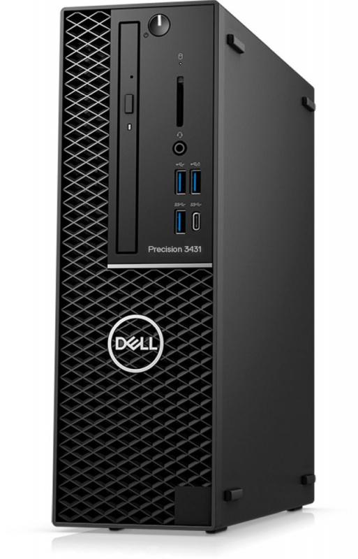 ПК Dell Precision 3431 SFF i7 9700 (3)/8Gb/SSD256Gb/P1000 4Gb/DVDRW/CR/Windows 10 Professional/GbitEth/260W/клавиатура/мышь/черный