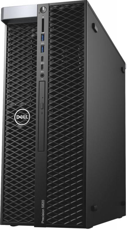 ПК Dell Precision T5820 MT Xeon W-2123 (3.6)/16Gb/SSD256Gb/DVDRW/Linux Ubuntu/GbitEth/950W/клавиатура/мышь/черный