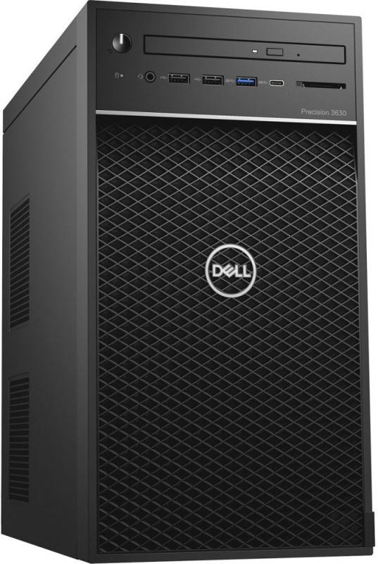 ПК Dell Precision 3630 MT i5 9500 (3)/8Gb/SSD256Gb/P1000 4Gb/DVDRW/Windows 10 Professional 64/GbitEth/460W/клавиатура/мышь/черный