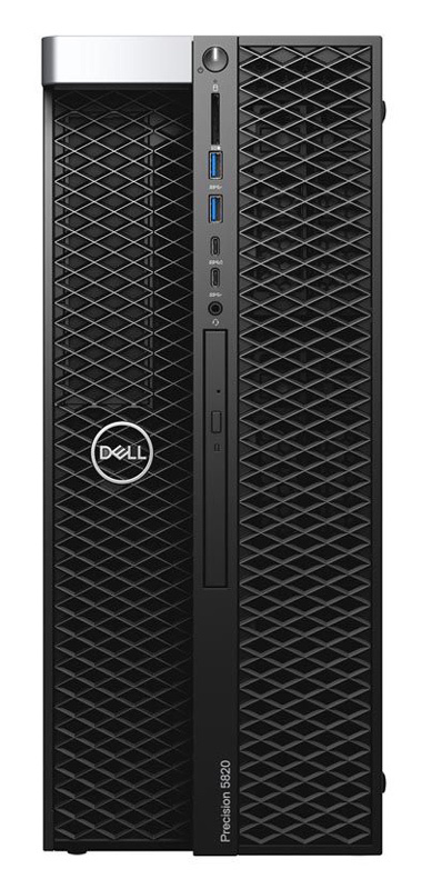 ПК Dell Precision T5820 MT Xeon W-2123 (3.6)/16Gb/2Tb 7.2k/SSD256Gb/DVDRW/Windows 10 Professional Single Language 64 +W10Pro/GbitEth/950W/клавиатура/мышь/черный