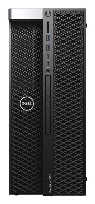 ПК Dell Precision T5820 MT Xeon W-2133 (3.6)/32Gb/2Tb 7.2k/SSD512Gb/P4000 8Gb/DVDRW/Windows 10 Professional Single Language 64 +W10Pro/GbitEth/950W/клавиатура/мышь/черный