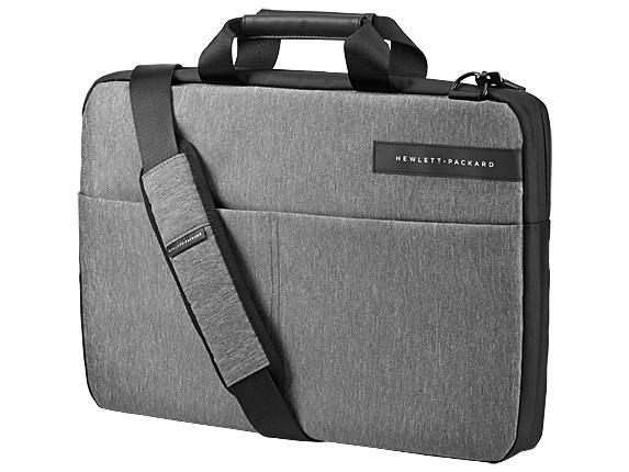 """Сумка для ноутбука 15.6"""" HP Signature Slim Topload черный/серый синтетика (L6V68AA)"""
