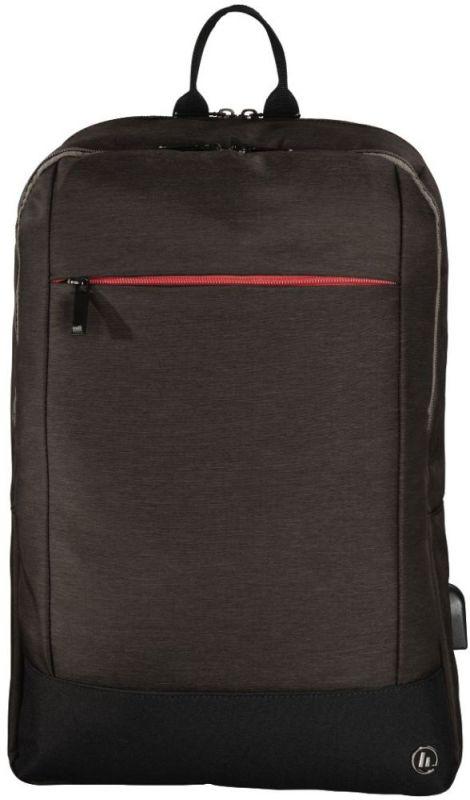 """Рюкзак для ноутбука 15.6"""" Hama Manchester коричневый полиэстер (00101827)"""