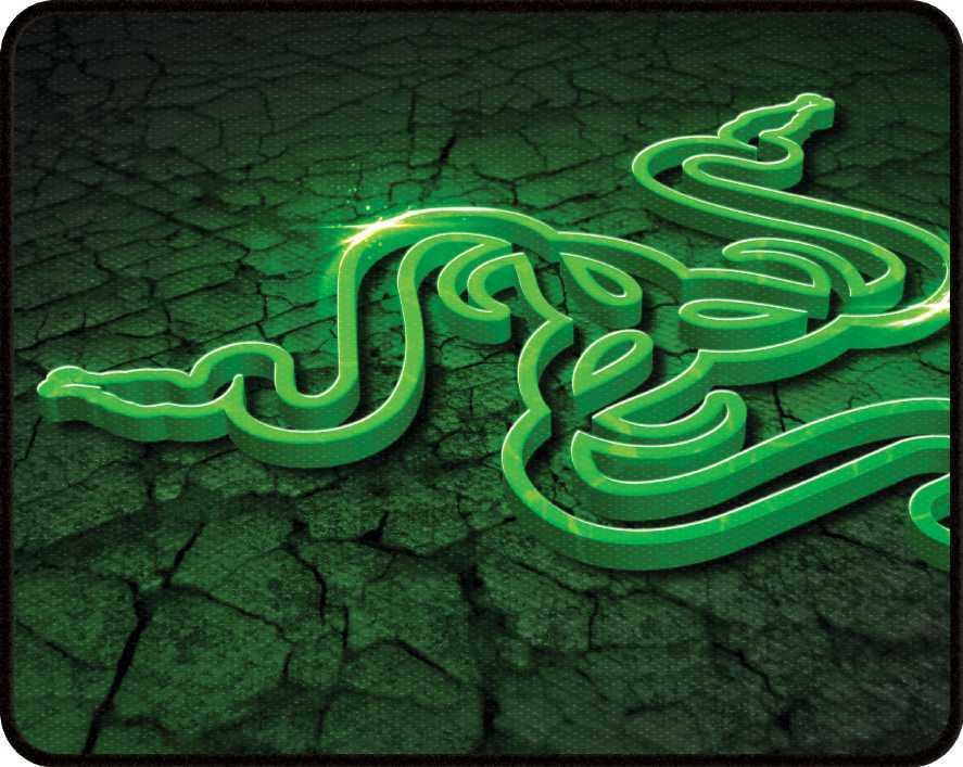 Коврик для мыши Razer Goliathus Control Fissure Edition Большой зеленый/рисунок