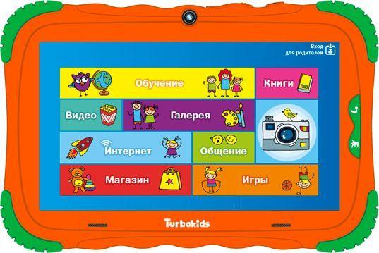 "Планшет Turbo TurboKids S5 RK3326 (1.5) 4C/RAM1Gb/ROM16Gb 7"" IPS 1024x600/Android 8.1/оранжевый/2Mpix/0.3Mpix/BT/WiFi/Touch/microSD 32Gb/minUSB/3000mAh"