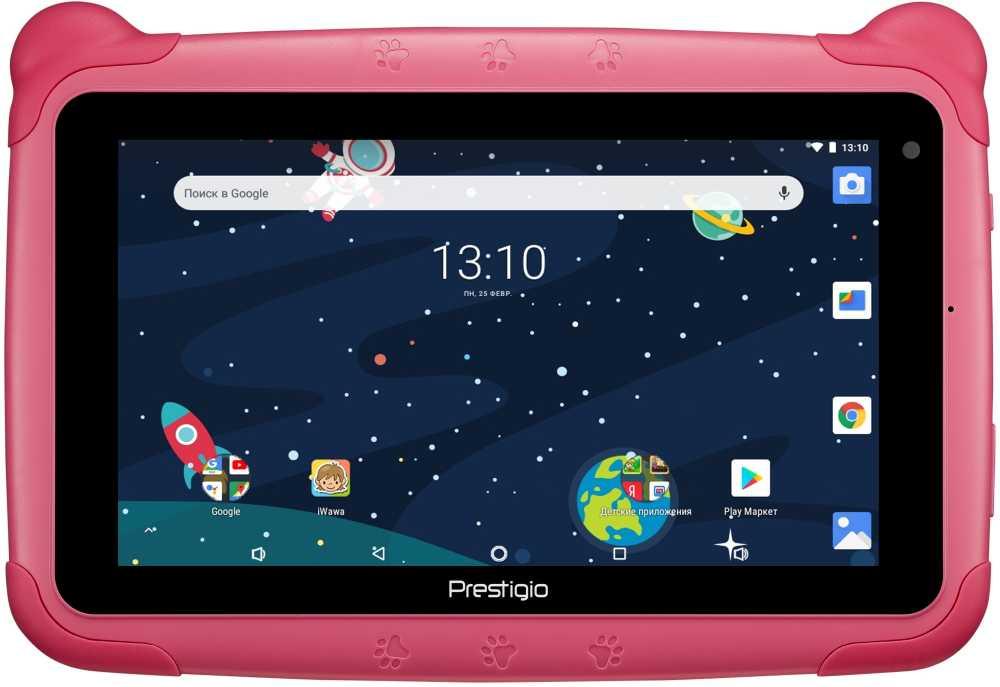"Планшет Prestigio Smartkids 3997 3126c (1.3) 4C/RAM1Gb/ROM16Gb 7"" IPS 1024x600/Android 8.1/розовый/2Mpix/0.3Mpix/BT/WiFi/Touch/microSD 32Gb/minUSB/2500mAh/72hr/200hrs"