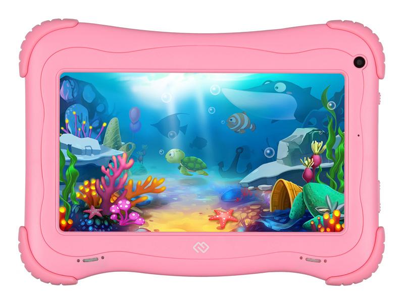 "Планшет Digma Optima Kids 7 RK3126C (1.2) 4C/RAM1Gb/ROM16Gb 7"" IPS 1024x600/Android 8.1/розовый/2Mpix/0.3Mpix/BT/WiFi/Touch/microSD 128Gb/minUSB/2500mAh"