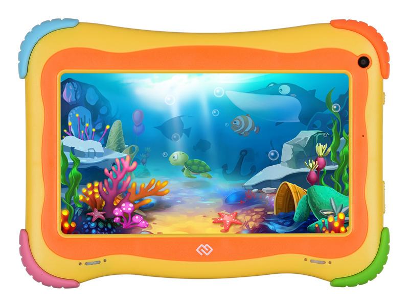 "Планшет Digma Optima Kids 7 RK3126C (1.2) 4C/RAM1Gb/ROM16Gb 7"" IPS 1024x600/Android 8.1/разноцветный/2Mpix/0.3Mpix/BT/WiFi/Touch/microSD 128Gb/minUSB/2500mAh"