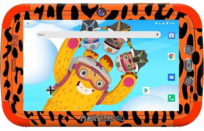 "Планшет Turbo TurboKids Monsterpad 2 SC7731C (1.2) 4C/RAM1Gb/ROM16Gb 7"" IPS 1024x600/3G/Android 8.1/оранжевый/2Mpix/0.3Mpix/BT/GPS/WiFi/Touch/microSD 32Gb/GPRS/minUSB/2800mAh/4.5hr"