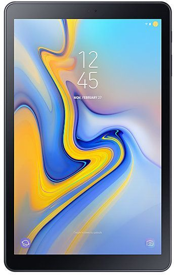 "Планшет Samsung Galaxy Tab A SM-T595N (1.8) 8C/RAM3Gb/ROM32Gb 10.5"" TFT 1920x1200/3G/4G/Android 8.1/черный/8Mpix/5Mpix/BT/GPS/WiFi/Touch/microSD 400Gb/minUSB/7300mAh"