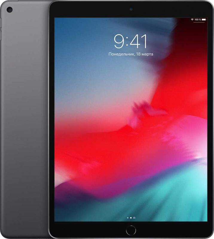"Планшет Apple iPad Air 2019 MV0D2RU/A A12 Bionic/RAM3Gb/ROM64Gb 10.5"" IPS 2224x1668/3G/4G/iOS/темно-серый/8Mpix/7Mpix/BT/WiFi/Touch/EDGE/9hr"
