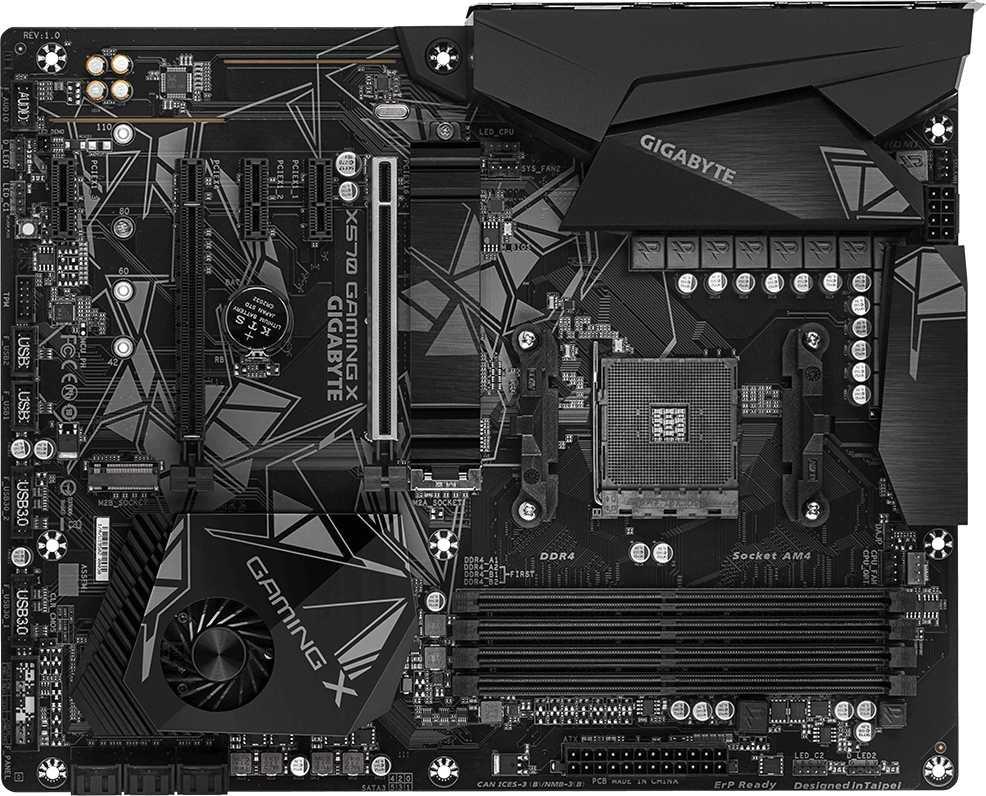 Материнская плата Gigabyte X570 GAMING X Soc-AM4 AMD X570 4xDDR4 ATX AC`97 8ch(7.1) GbLAN RAID+HDMI