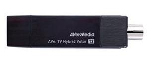Тюнер-ТВ/FM Avermedia AVerTV Hybrid Volar T2 внешний USB/RCA PDU HomeFreeTV APP Av (плохая упаковка)