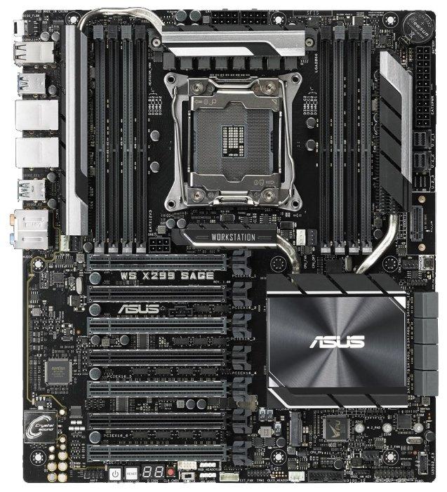 Материнская Плата Asus WS X299 SAGE Soc-2066 iX299 ATX 8xDDR4 8xSATA3 SATA RAID i210AT/219LM 2хGgbEth Ret