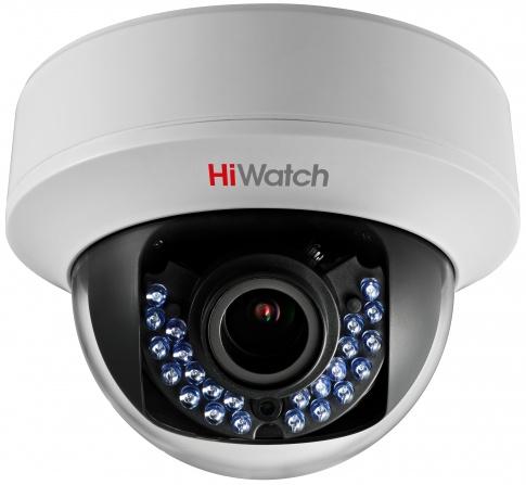 Камера видеонаблюдения Hikvision HiWatch DS-T107 2.8-12мм HD-TVI цветная корп.:белый