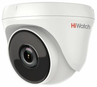 Камера видеонаблюдения Hikvision HiWatch DS-T233 2.8-2.8мм HD-TVI цветная корп.:белый