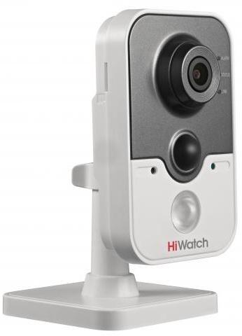Видеокамера IP Hikvision HiWatch DS-I114W 4-4мм цветная корп.:белый
