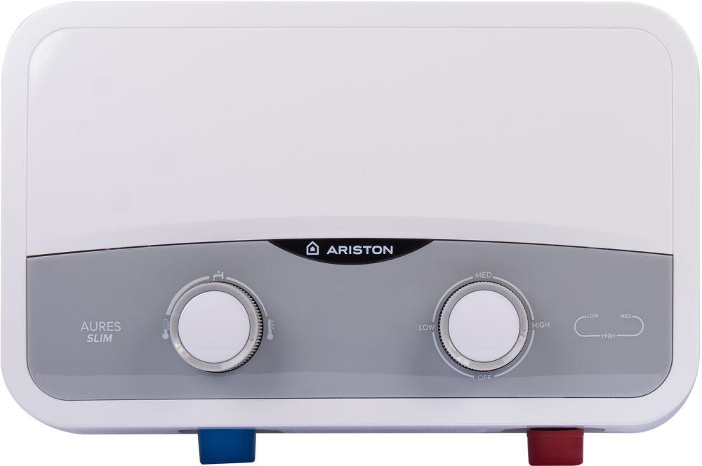 Водонагреватель Ariston Aures SF 5.5 COM 5.5кВт электрический настенный/серебристый
