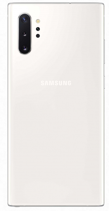 "Смартфон Samsung SM-N975F Galaxy Note 10+ 256Gb 12Gb белый моноблок 3G 4G 2Sim 6.8"" 1440x3040 Android 9.0 16Mpix 802.11 a/b/g/n/ac/ax NFC GPS GSM900/1800 GSM1900 TouchSc Ptotect MP3 microSD max1024Gb"