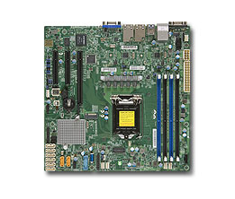 Материнская Плата SuperMicro MBD-X11SSH-F-O Soc-1151 iC236 mATX 4xDDR4 8xSATA3 SATA RAID i210AT 2хGgbEth Ret