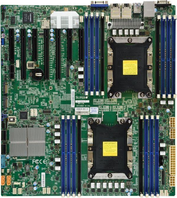 Материнская Плата SuperMicro MBD-X11DPH-I-O Soc-3647 iC621 eATX 16xDDR4 10xSATA3 SATA RAID 88E1512 2хGgbEth Ret