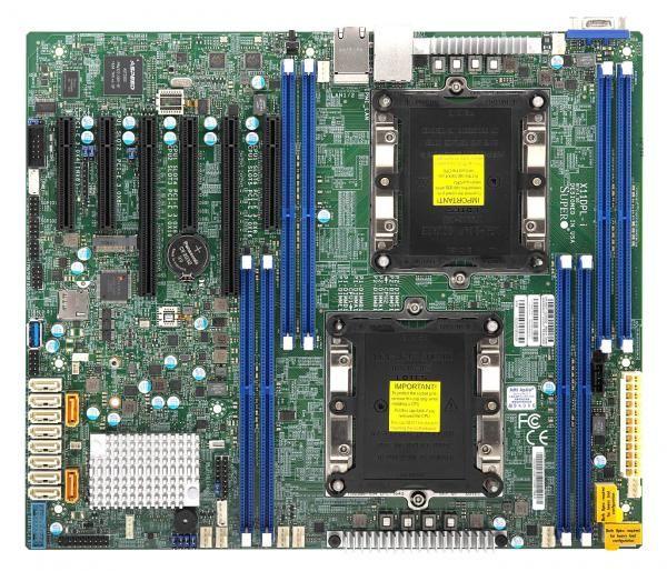Материнская Плата SuperMicro MBD-X11DPL-I-O Soc-3647 iC621 eATX 8xDDR4 10xSATA3 SATA RAID 88E1512 PHY 2хGgbEth Ret