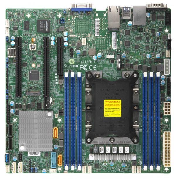 Материнская Плата SuperMicro MBD-X11SPM-F-O Soc-3647 iC621 mATX 6xDDR4 12xSATA3 SATA RAID 88E1512 2хGgbEth Ret