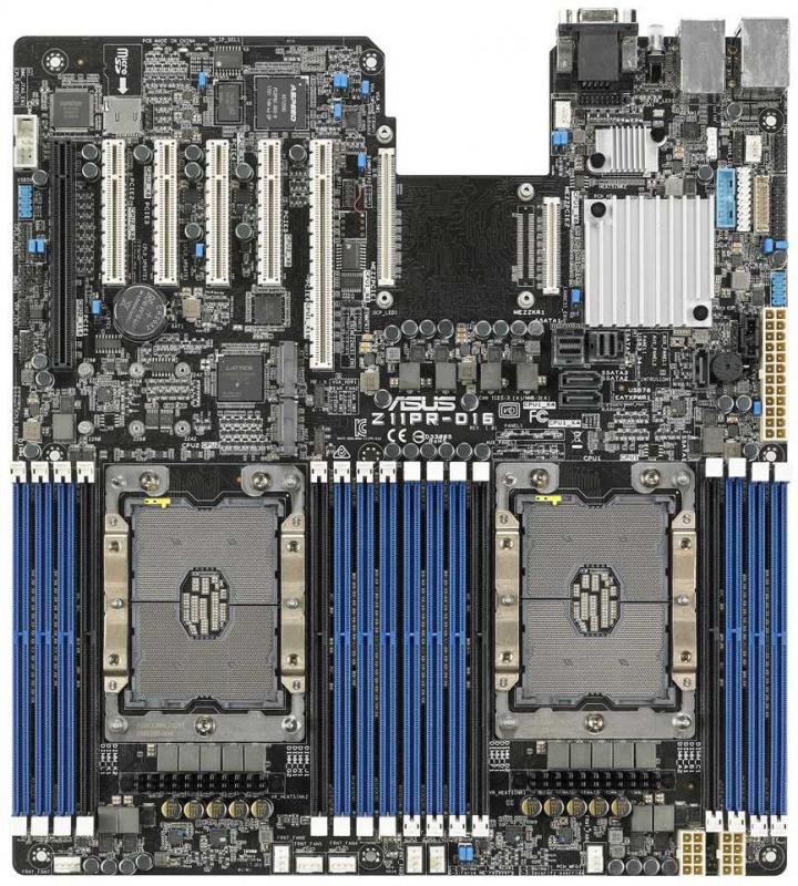 Материнская Плата Asus Z11PR-D16 Soc-3647 iC621 ATX 16xDDR4 11xSATA3 SATA RAID iI350 2хGgbEth Ret