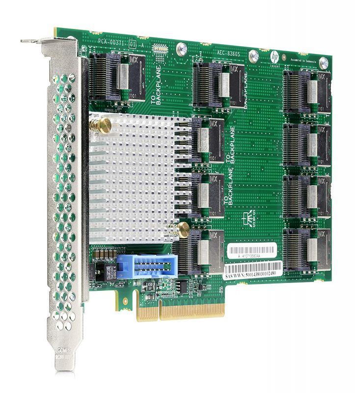 Контроллер HPE DL38X Gen10 12Gb SAS Expander Card Kit with Cables (870549-B21)