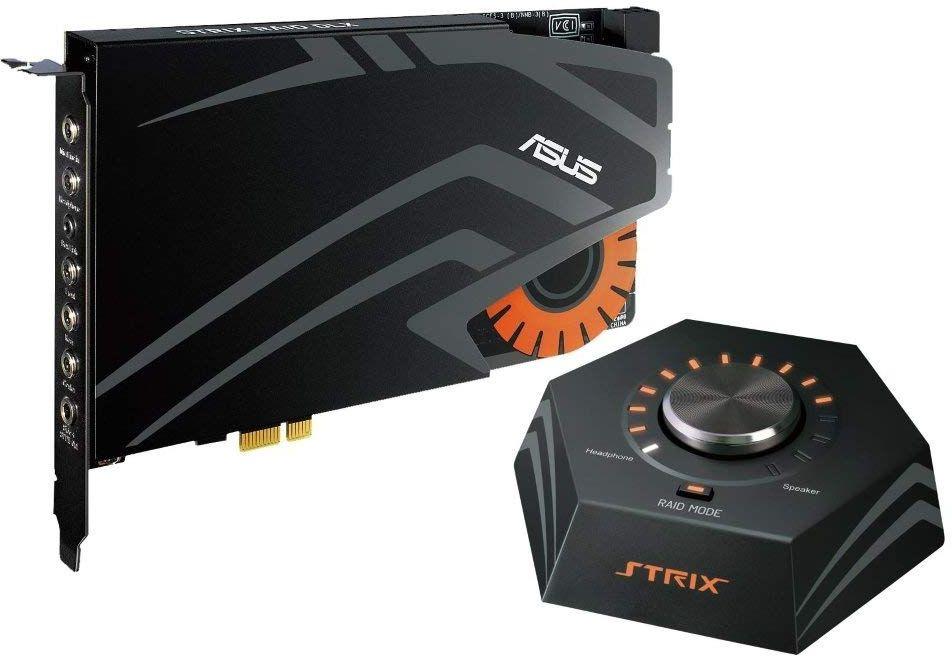 Звуковая карта Asus PCI-E Strix Raid DLX (C-Media 6632AX) 7.1 Ret