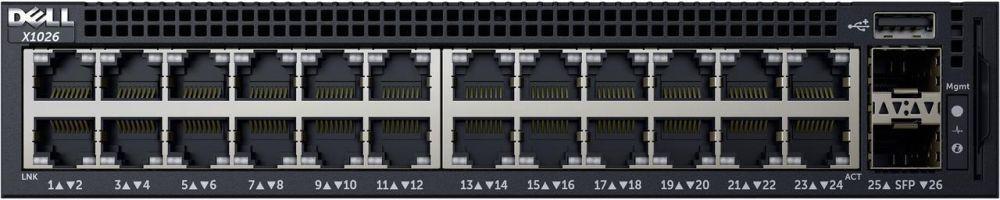 Коммутатор Dell Networking X1026 24P 1Gb + 2P 1Gb SFP (210-AEIM)