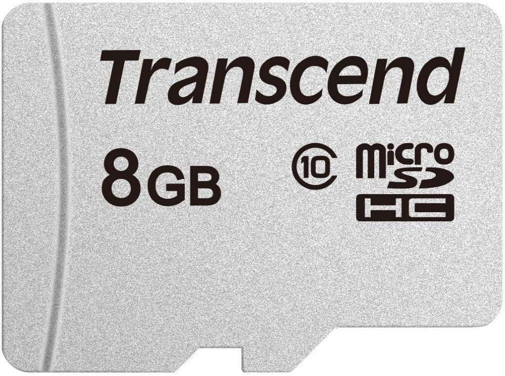 Флеш карта microSDHC 8Gb Class10 Transcend TS8GUSD300S w/o adapter