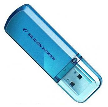 Флеш Диск Silicon Power 64Gb Helios 101 SP064GBUF2101V1B USB2.0 синий