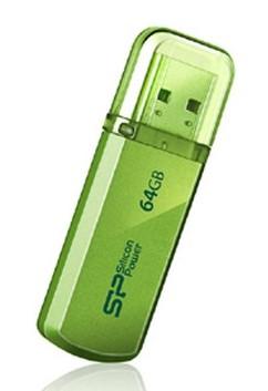 Флеш Диск Silicon Power 64Gb Helios 101 SP064GBUF2101V1N USB2.0 зеленый