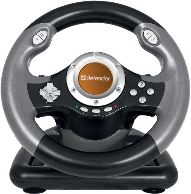 Руль Defender Challenge Mini LE 10кноп. (с педалями) черный